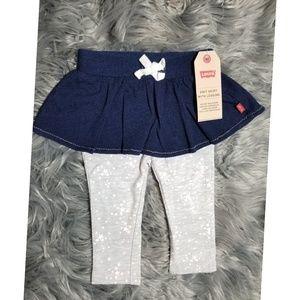 Levi's Infant Denim Skirt with Leggings.
